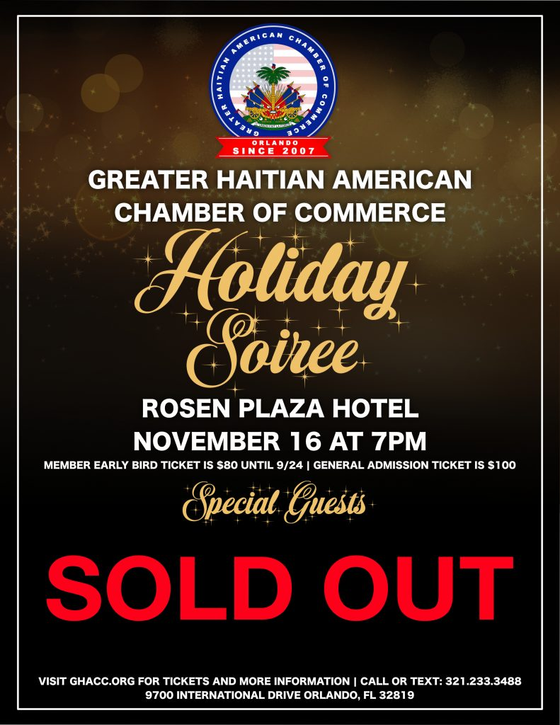 Soiree Flyer Sold Out