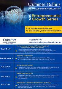 Crummer 2019 Entrepreneurial Growth Series Flyer