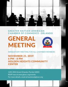 General Meeting Flyer November 2019