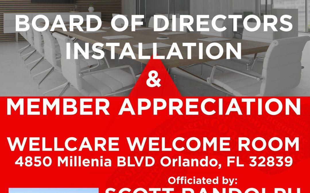 Member Appreciation & BOD Installtion