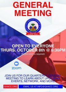 October General Meeting Flyer