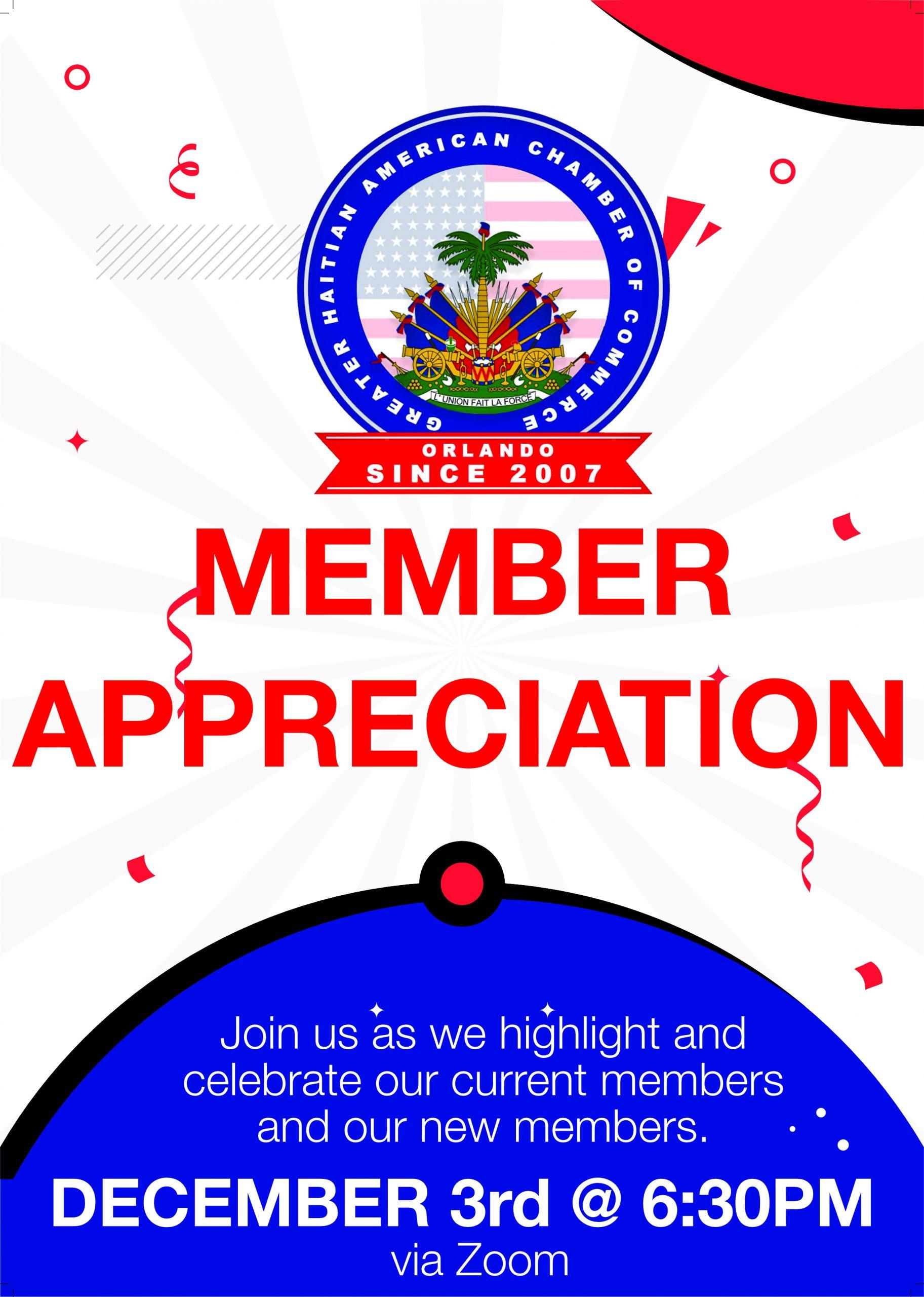 Member Appreciation 2020