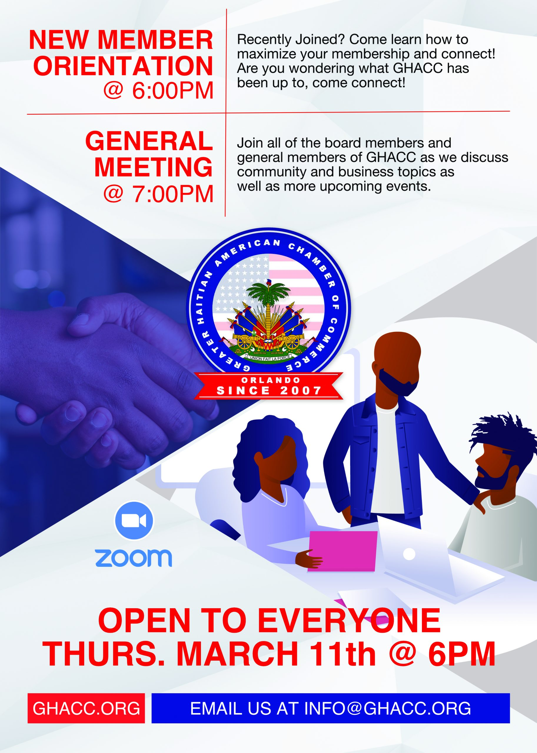 March General Meeting Flyer
