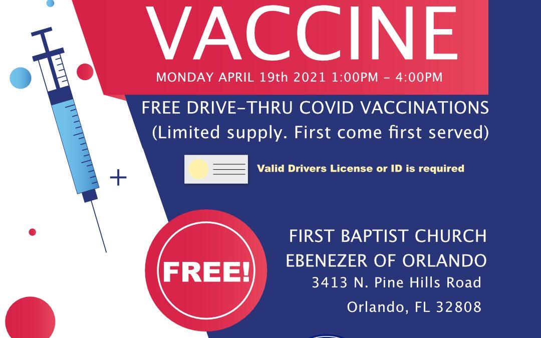 COVID Vaccination Drive-Thru